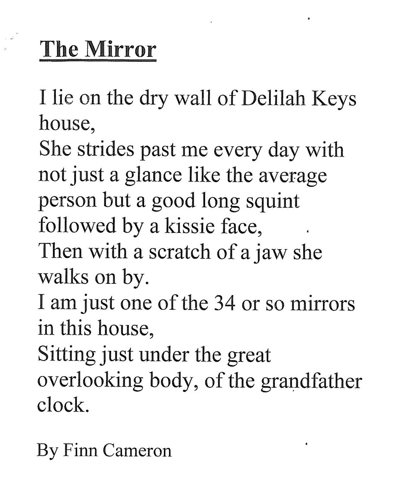 Man In The Mirror Poem 102